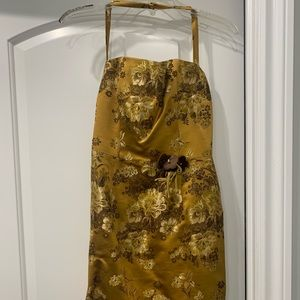 Gold and Floral Dress